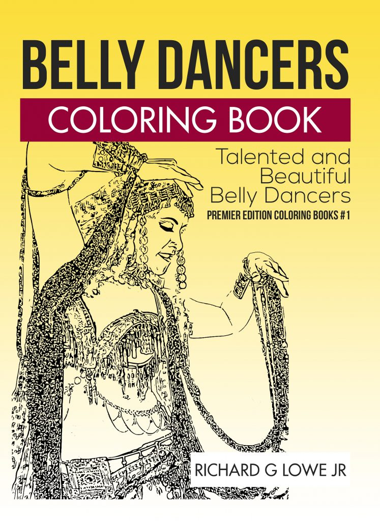 Bellydancers Adult Coloring Book #1