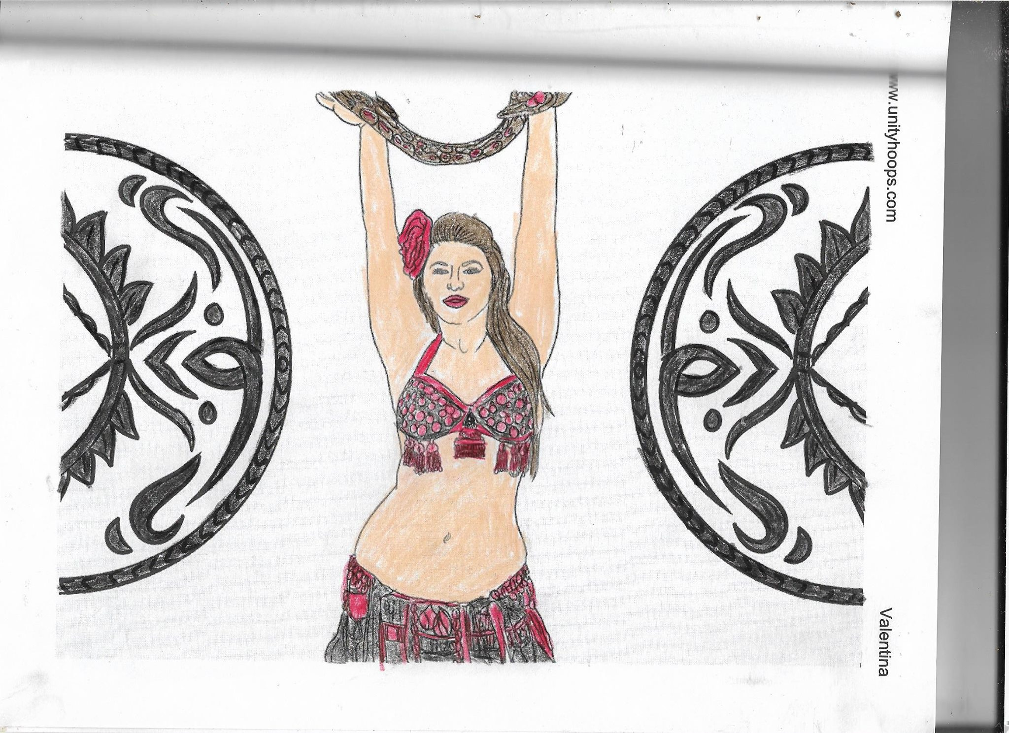 Additional Images: Beautiful Belly Dancers Coloring Book #2