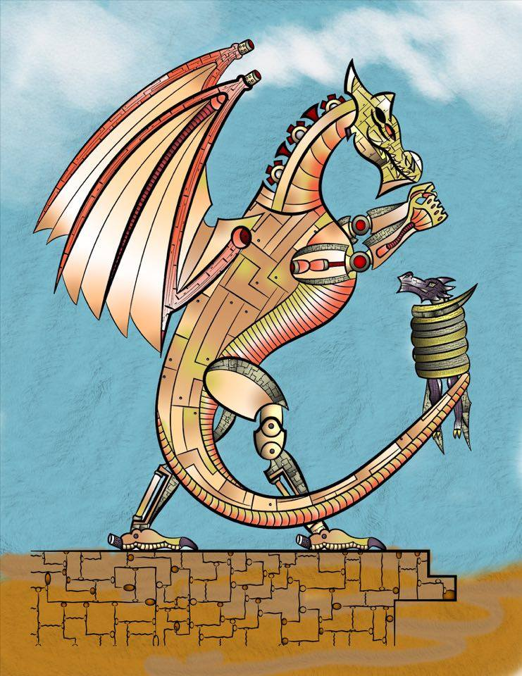 Additional Images: Steampunk Dragons Coloring Book