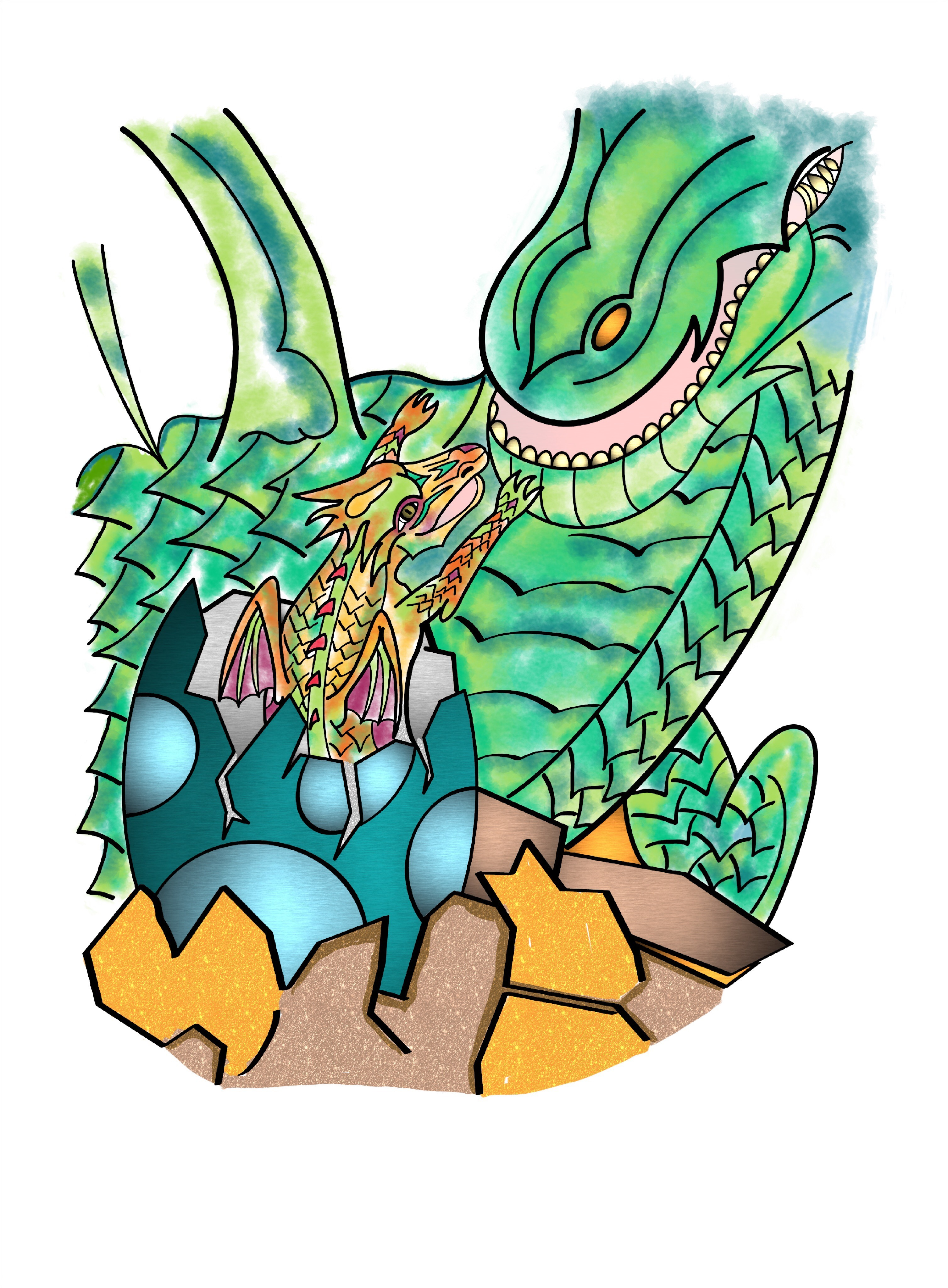 Additional Images: Dragons Coloring Book