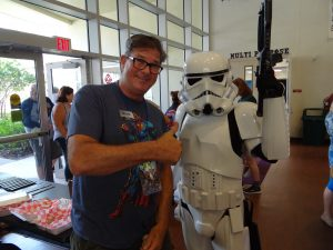 Mark O'donnel with stormtrooper