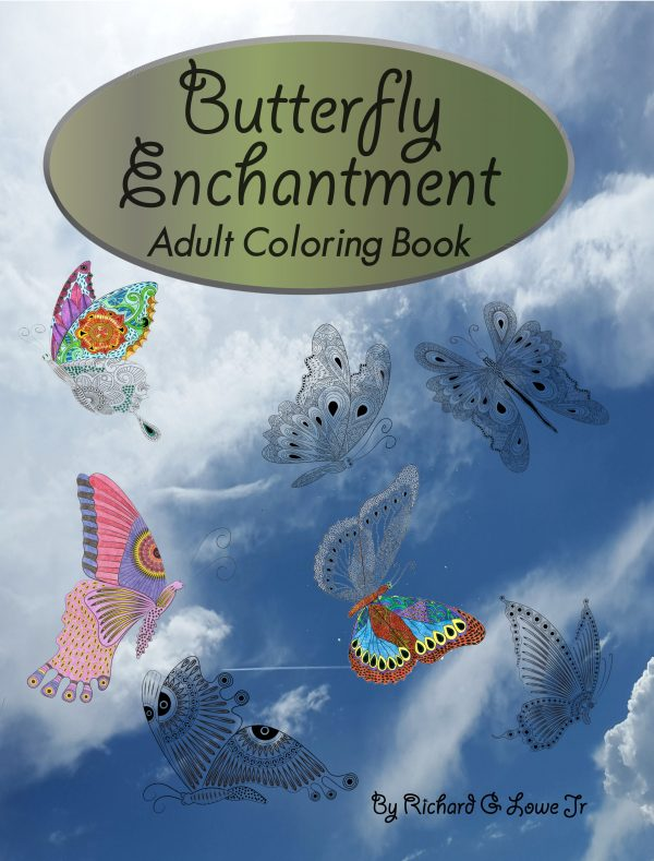 Butterfly Enchantment Adult Coloring Book
