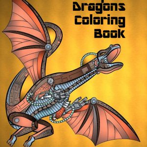 Steampunk Dragons Coloring Book