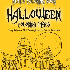 Adult Coloring Book Halloween Coloring Pages