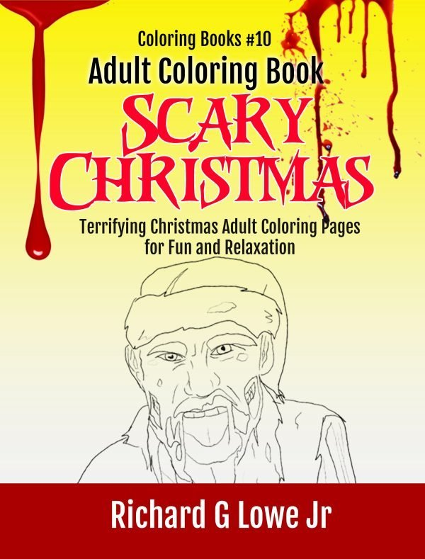 Adult Coloring Book Scary Christmas